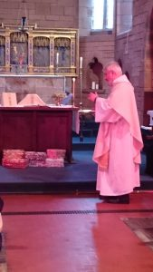 Shoe Boxes Blessed by Rev. Martin Callaghan